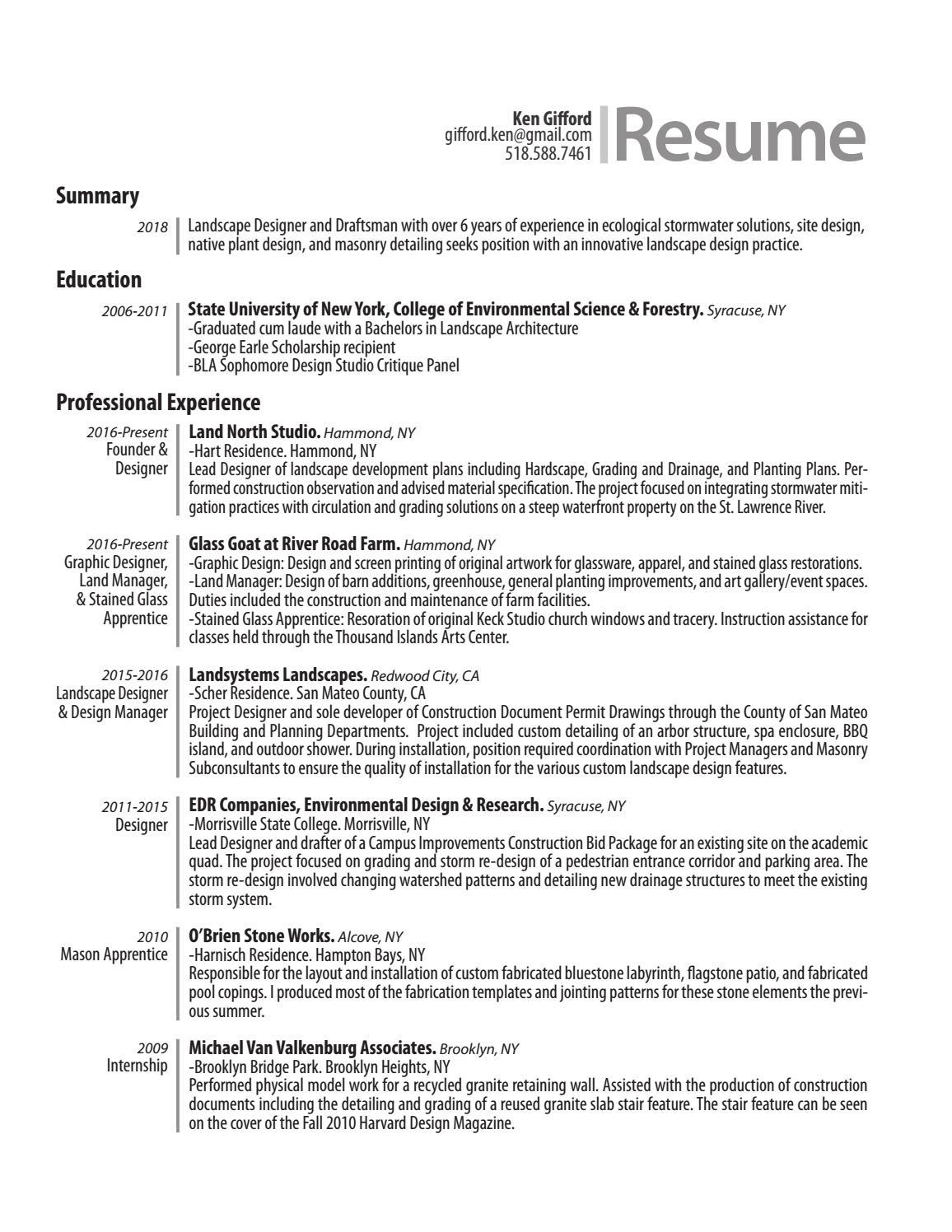 Gifford resume by Ken Gifford - issuu