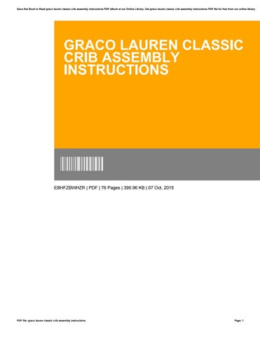 Graco Lauren Classic Crib Assembly Instructions By N232 Issuu
