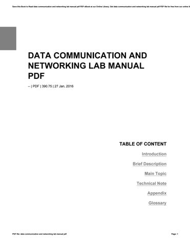 Data communication and networking lab manual pdf by v5586