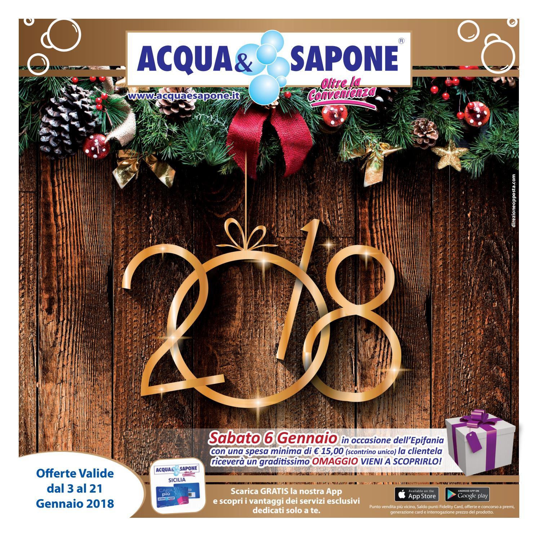 Volantino acqua sapone n 1 2018 by acqua sapone sicilia for Volantino acqua e sapone sicilia