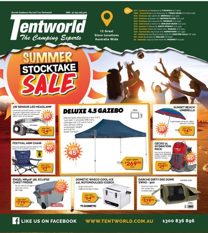Burrell Outdoors Pty Ltd T/as Tentworld  sc 1 st  Issuu & Tentworld - Summer Stocktake Sale by Tentworld - The Camping ...