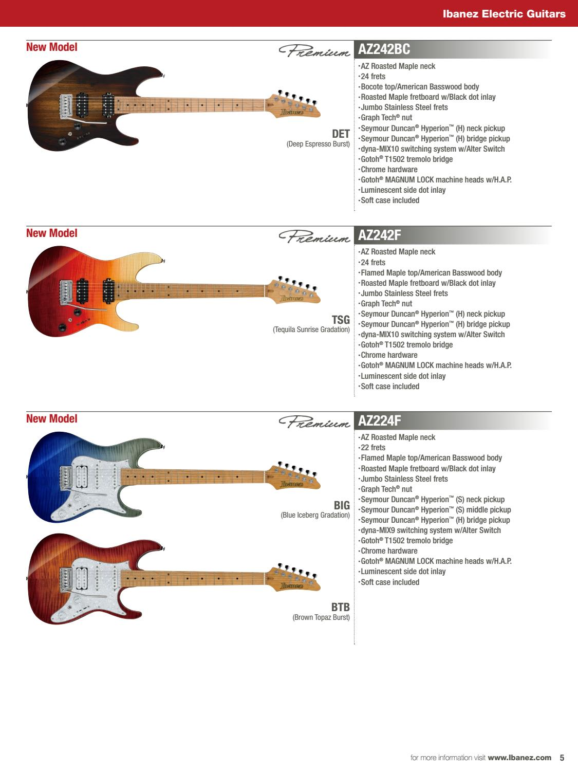 IBANEZ 2018 FULL LINE CATALOG by Ibanez Germany - issuu