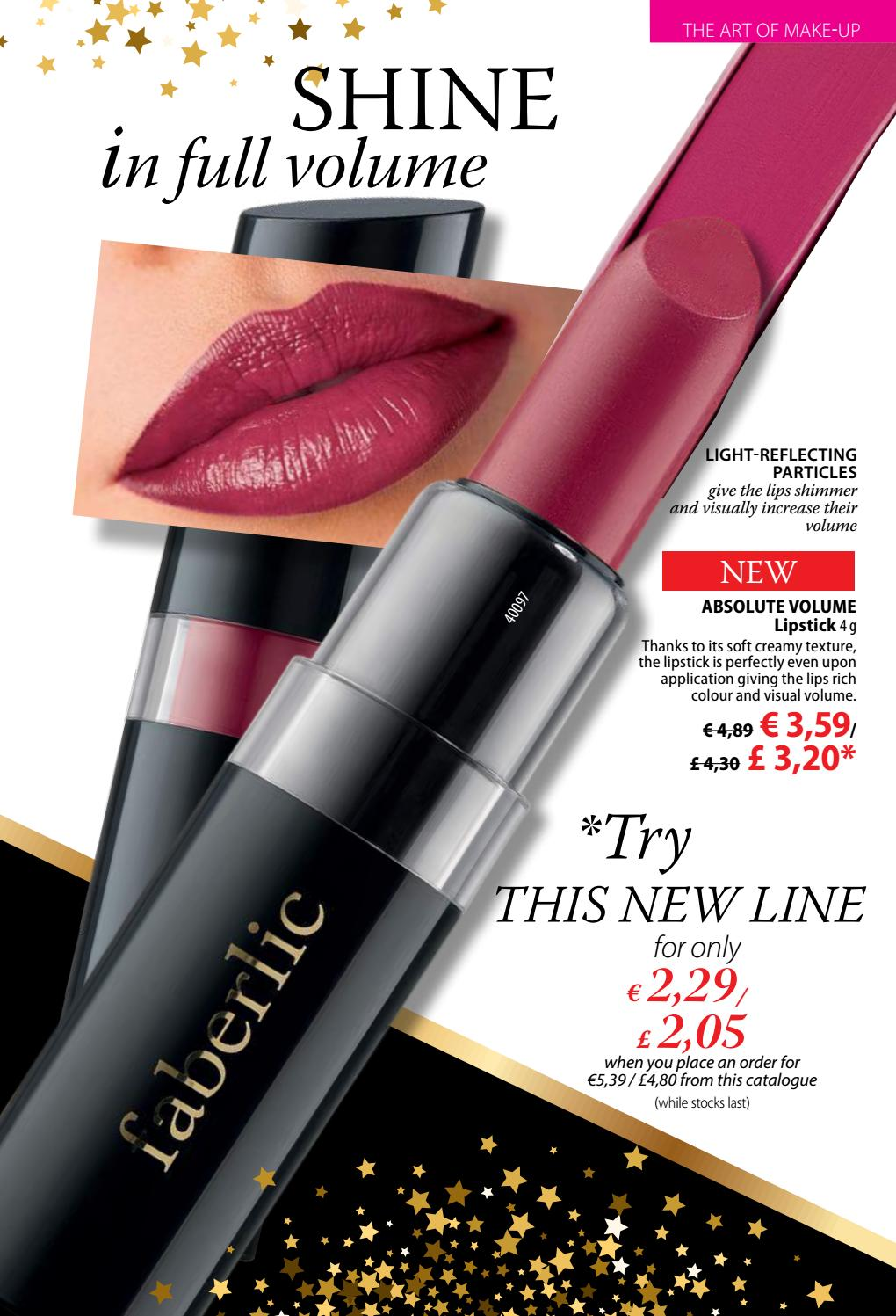 A new line of 100 color and volume - lipstick Faberlic. Product Reviews