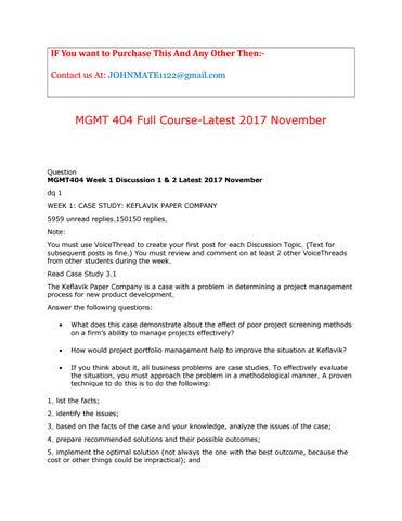 case study keflavik paper company (graded)