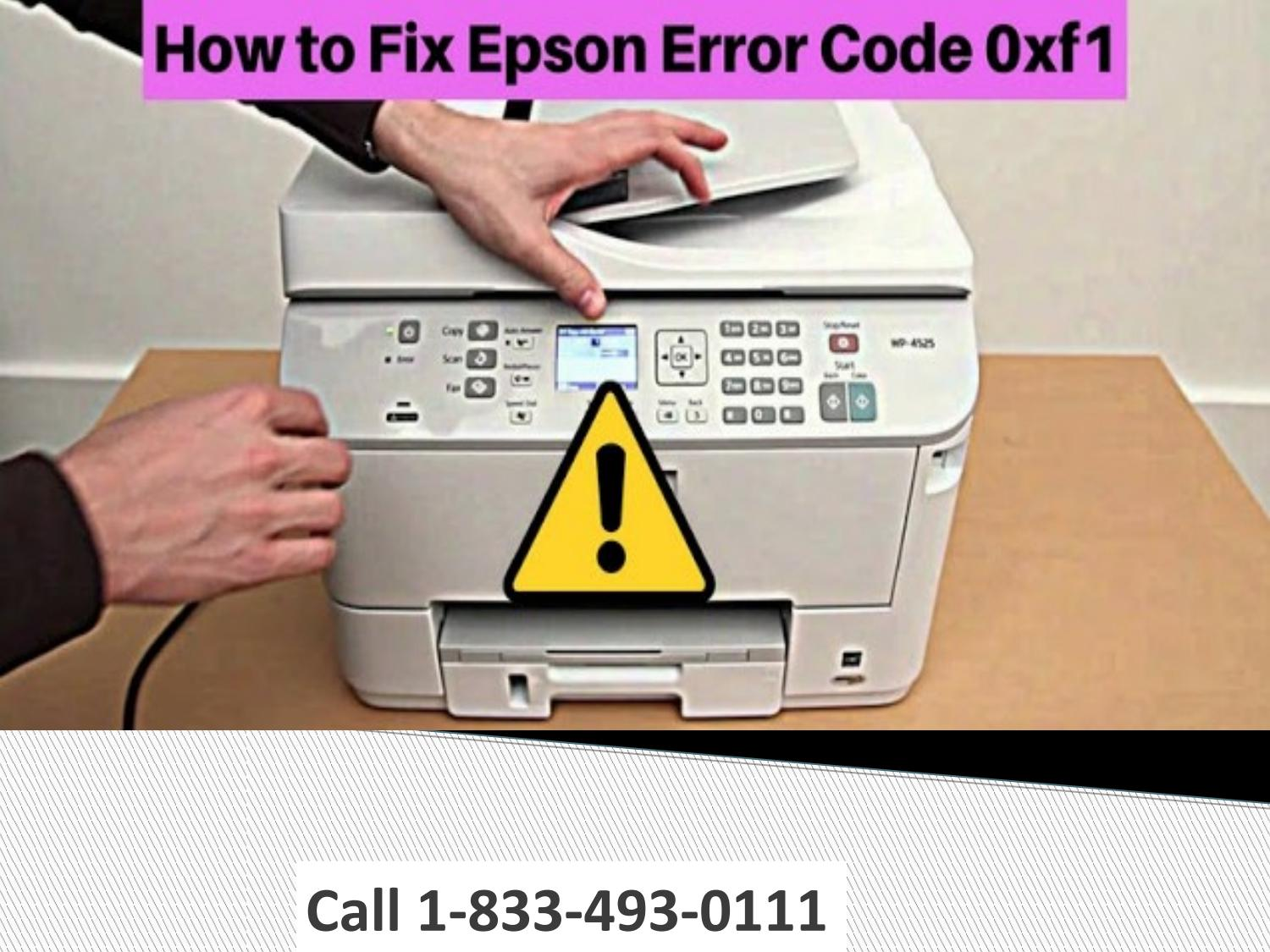 Epson printer error 0xf1