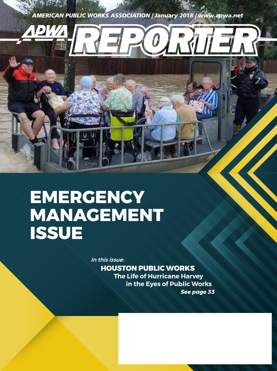 APWA Reporter, January 2018 issue by American Public Works