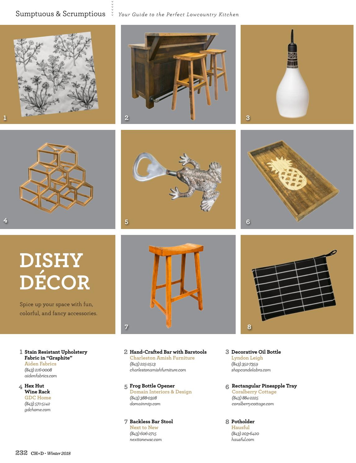 Charleston home design magazine winter 2018 by for Charleston home design magazine
