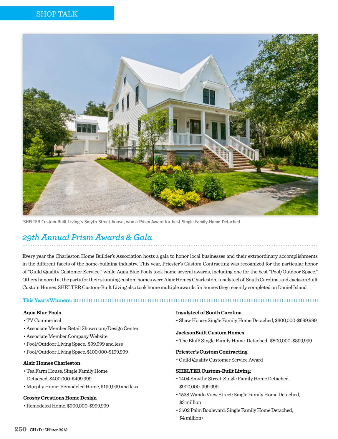 Charleston Home + Design Magazine: Winter 2018 by Charleston Home + on royal design homes, green design homes, golden design homes,