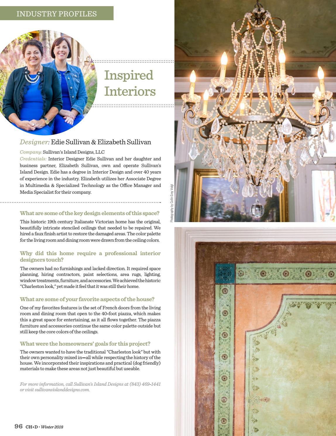 Charleston Home + Design Magazine: Winter 2018 By Charleston Home + Design  Magazine   Issuu