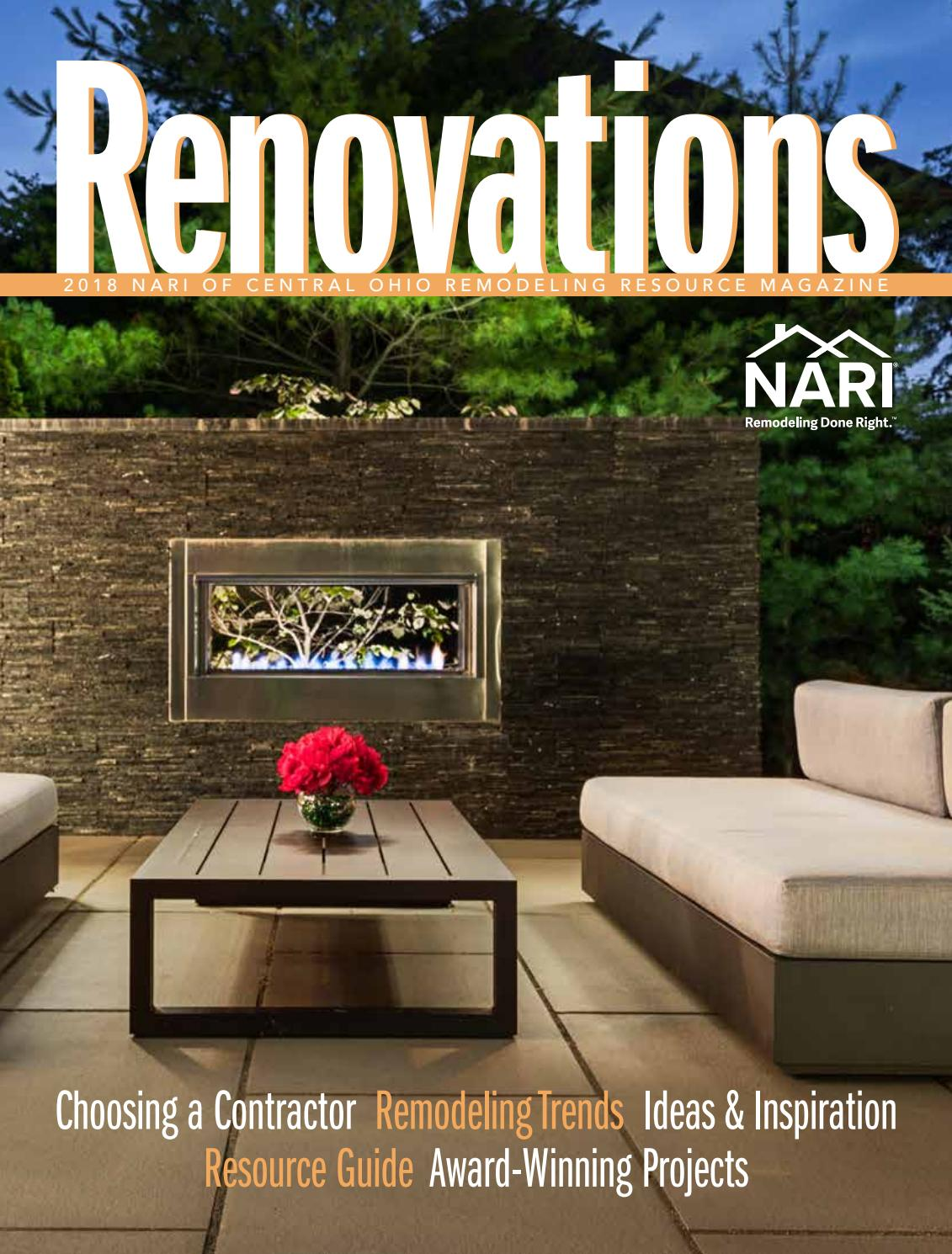 2018 Nari Of Central Ohio Remodeling Resource Magazine By