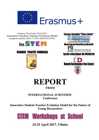 Erasmus project instem report from final conference 2017 by SOKRATUS