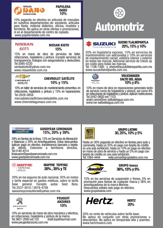 Folleto De Descuentos Empresariales By Universidad Tecnol Gica De  # Papeleria Dabo Muebles