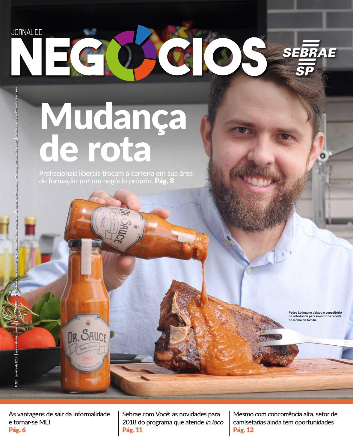 5406ba308 Jornal de Negócios - 01 de Janeiro 2018 by Sebrae-SP - issuu