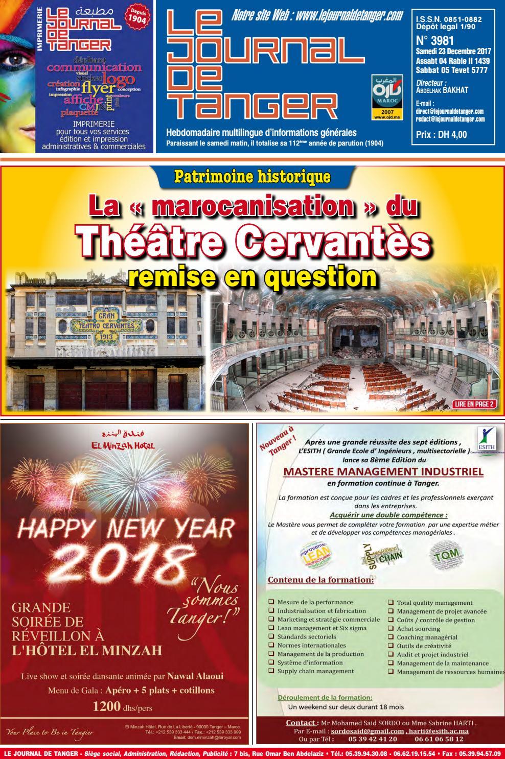 340222652 Le journal de Tanger 23 décembre 2017 by Le Journal de Tanger - issuu