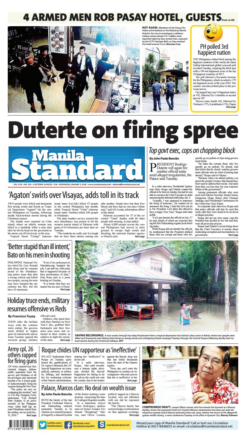 6c4673741163 Manila Standard - 2018 January 03 - Wednesday by Manila Standard - issuu