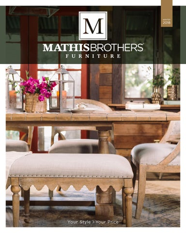 Mathis Brothers 2018 Winter Lookbook By Mathis Brothers Furniture
