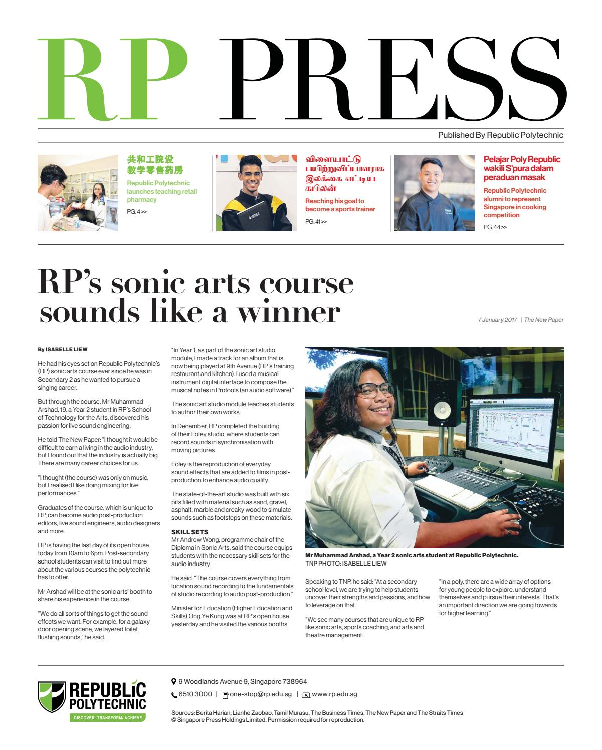 RP Press 2018 Issue By Republic Polytechnic Issuu