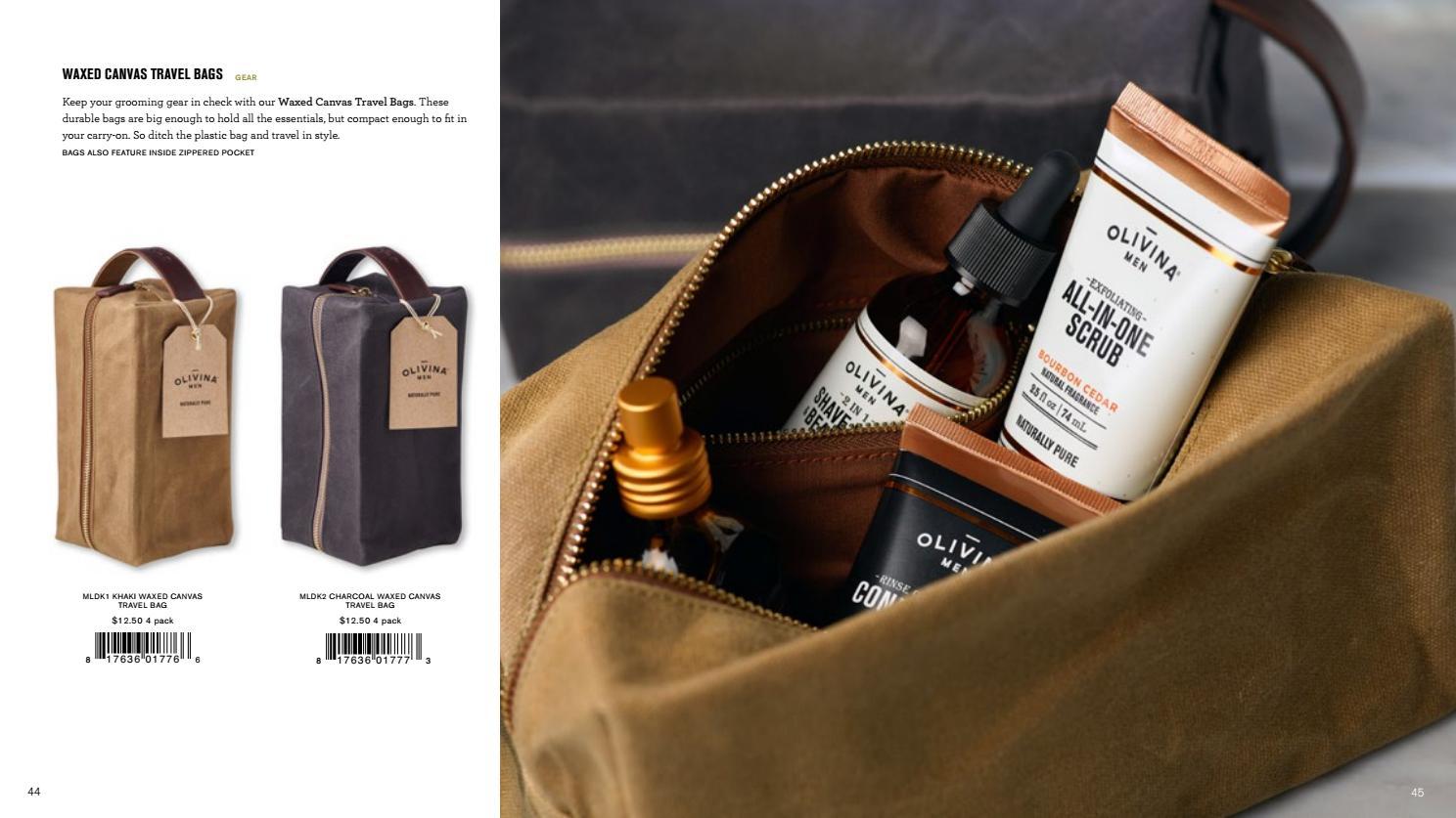 Mens Waxed Canvas Travel Bag  79ea42667f75c