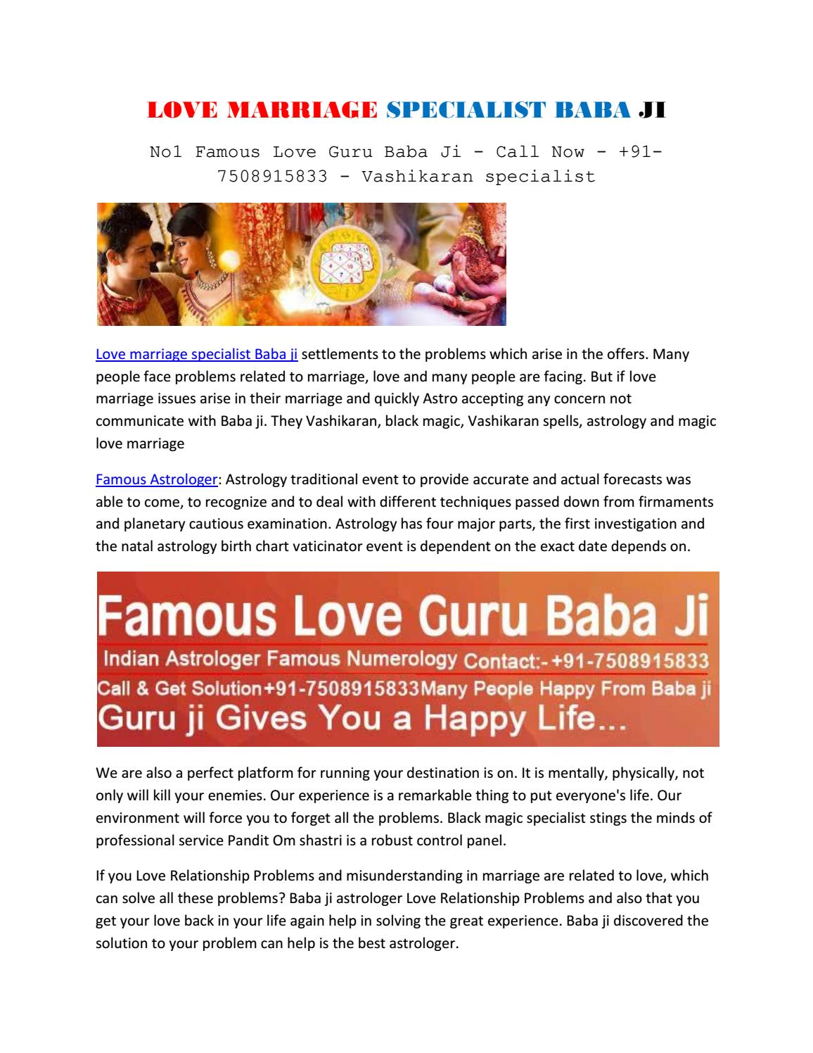 Love Marriage Specialist Baba Ji By Sameer Sulemani Issuu