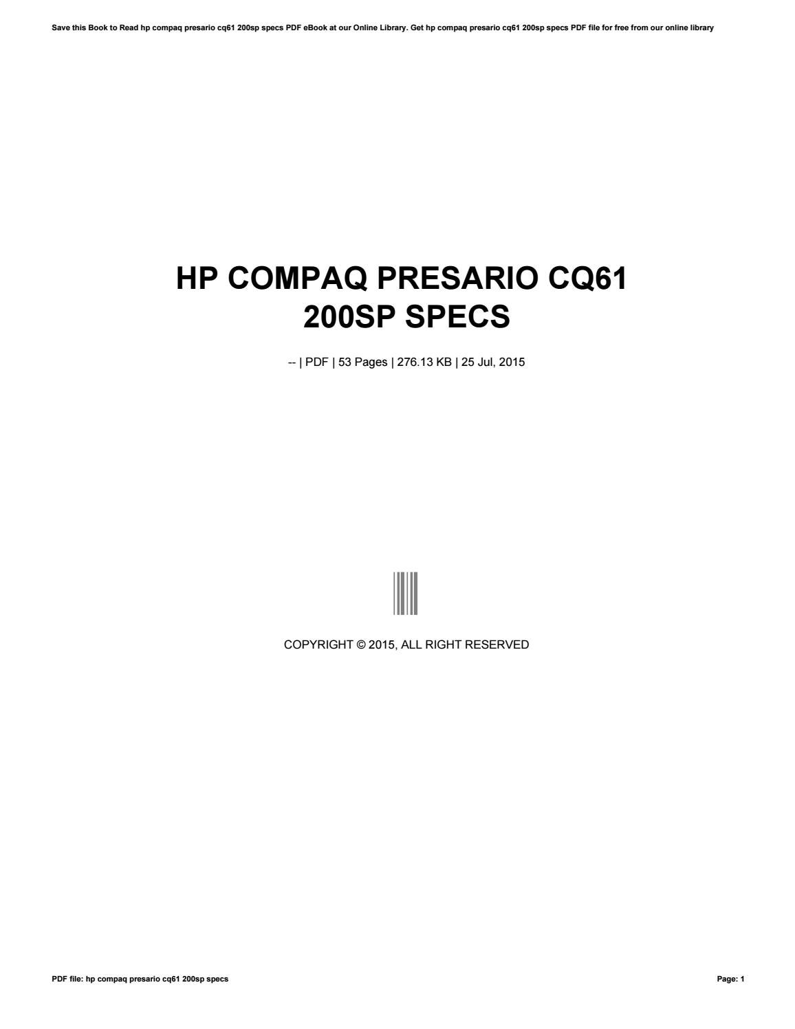 Compaq Cq61 Service Manual Ebook Onanmarquis5000generatorwiring Motorhome 2520t1977dodge Pdf Array Hp Presario 200sp Specs By Apssdc84 Issuu Rh