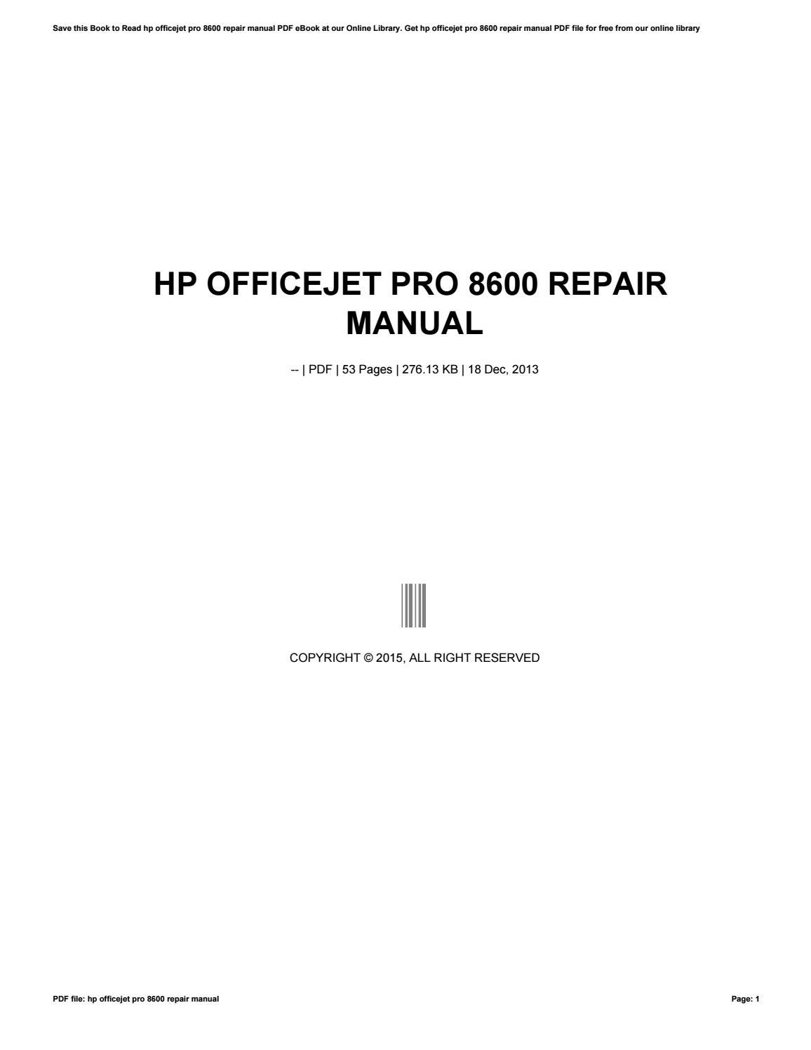 Officejet pro 8600 manual ebook hp officejet array hp officejet pro 8600 repair manual by v460 issuu rh issuu fandeluxe Images