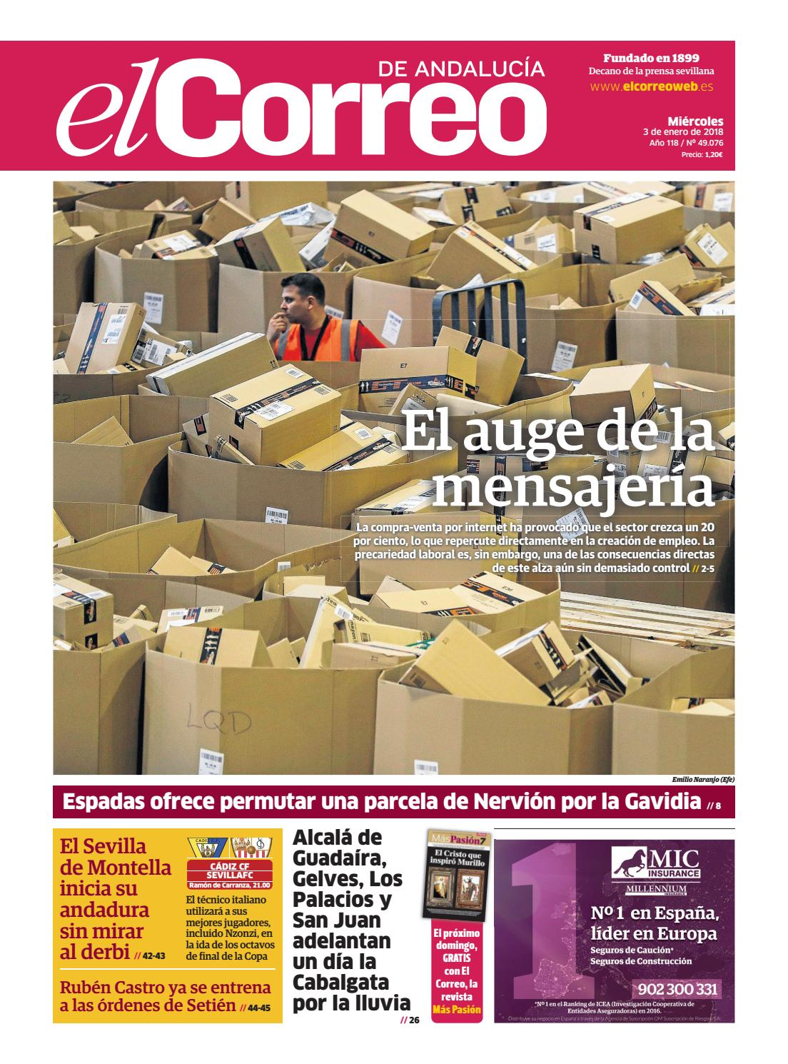 03.01.2018 El Correo de Andalucía by EL CORREO DE ANDALUCÍA S.L. - issuu 84158f8a284c5