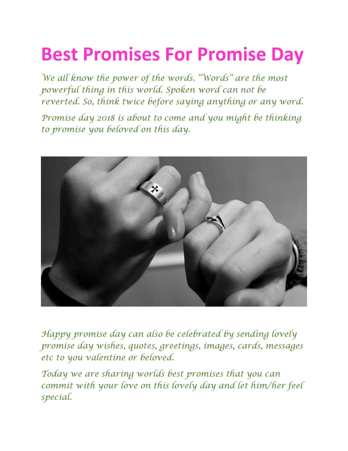 Best promises for promise day by Wishes Quotes - issuu