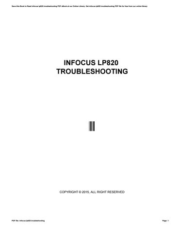 infocus lp820 troubleshooting by hezll2 issuu rh issuu com