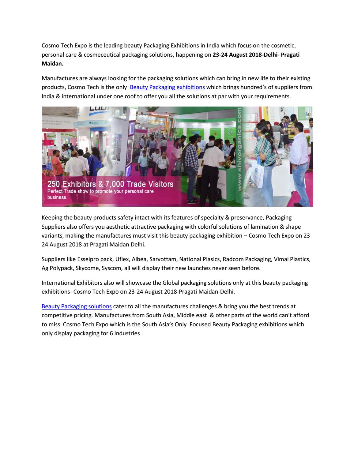 Beauty packaging exhibitions by cosmotechexpoindia - issuu