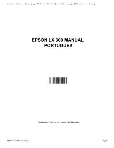 epson lx 300 ii manual portugues