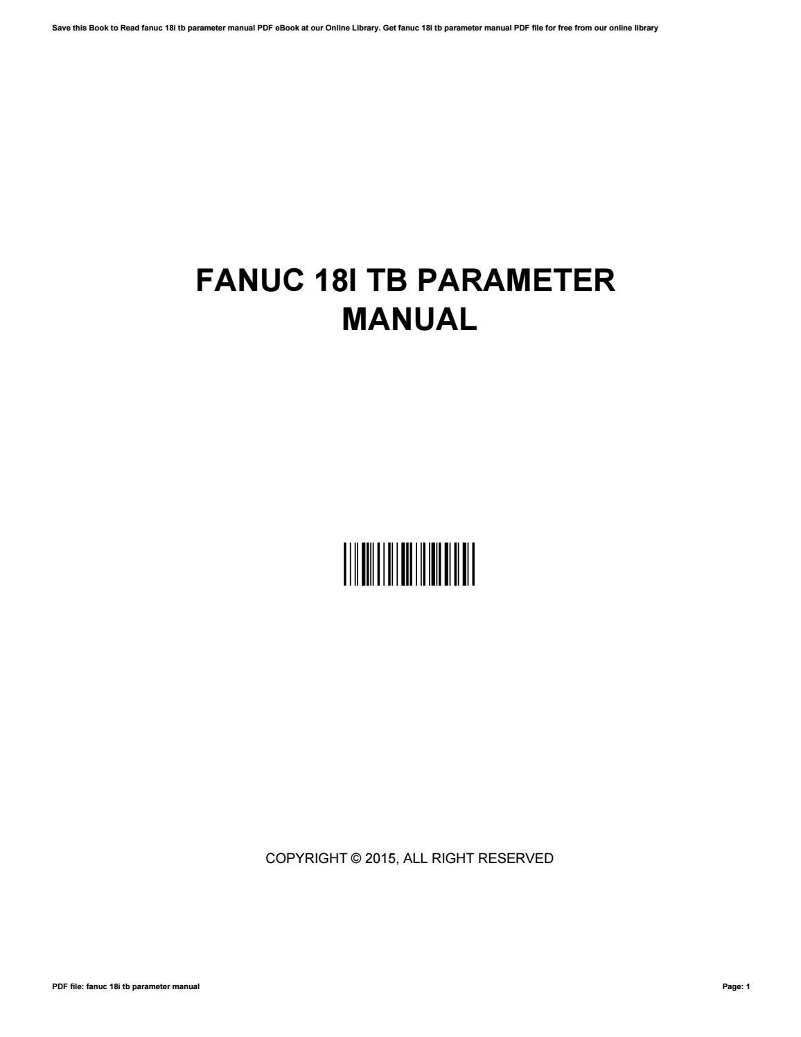 Fanuc 18i tb manual pdf