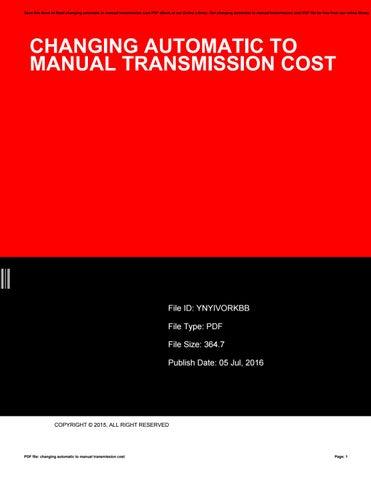 Manual transmission vs automatic transmission.