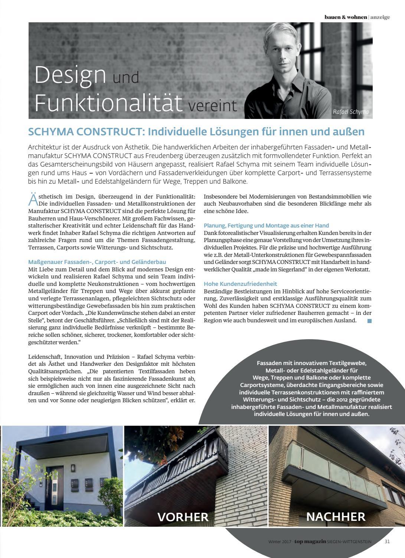 Top Magazin Siegen Wittgenstein Winter 2017 by Top Magazin - issuu