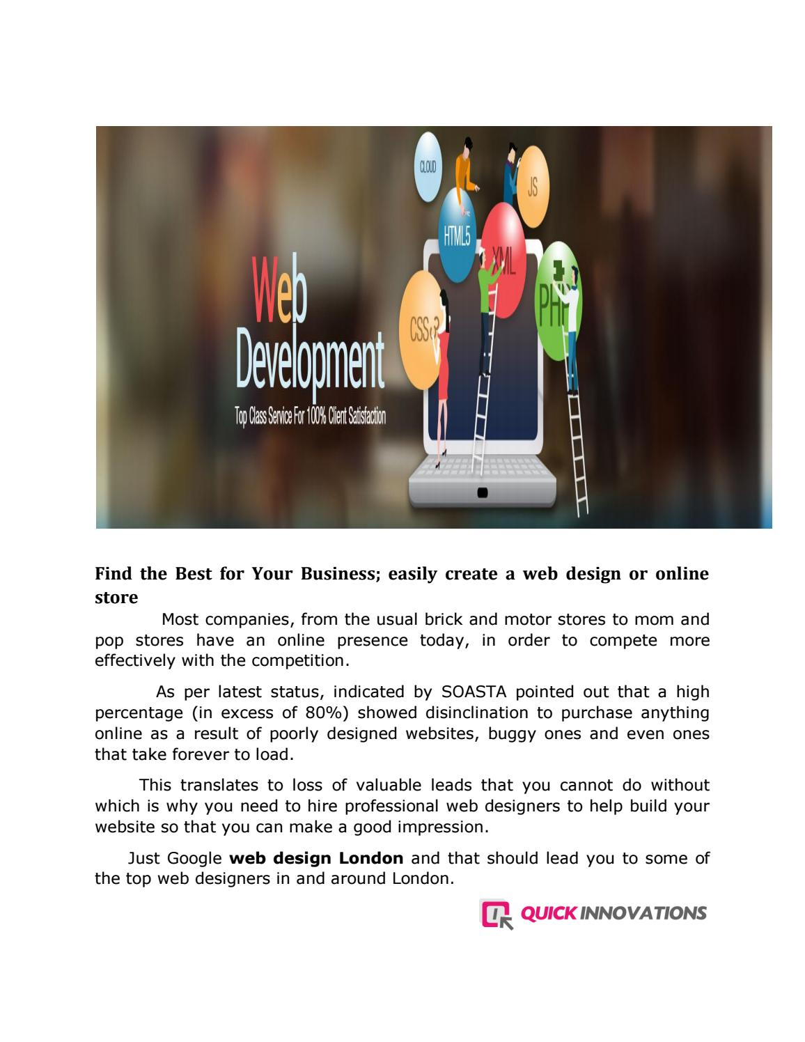 Cheap Web Design London 2 By Quickinnovations Issuu