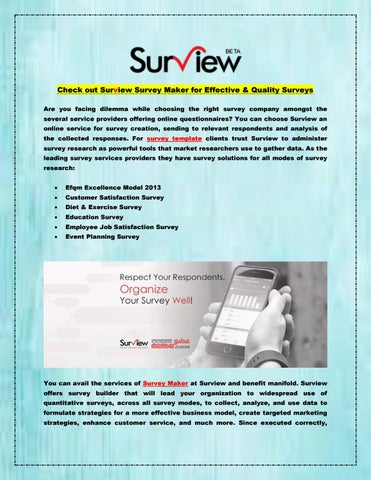 check out surview survey maker for effective quality surveys by
