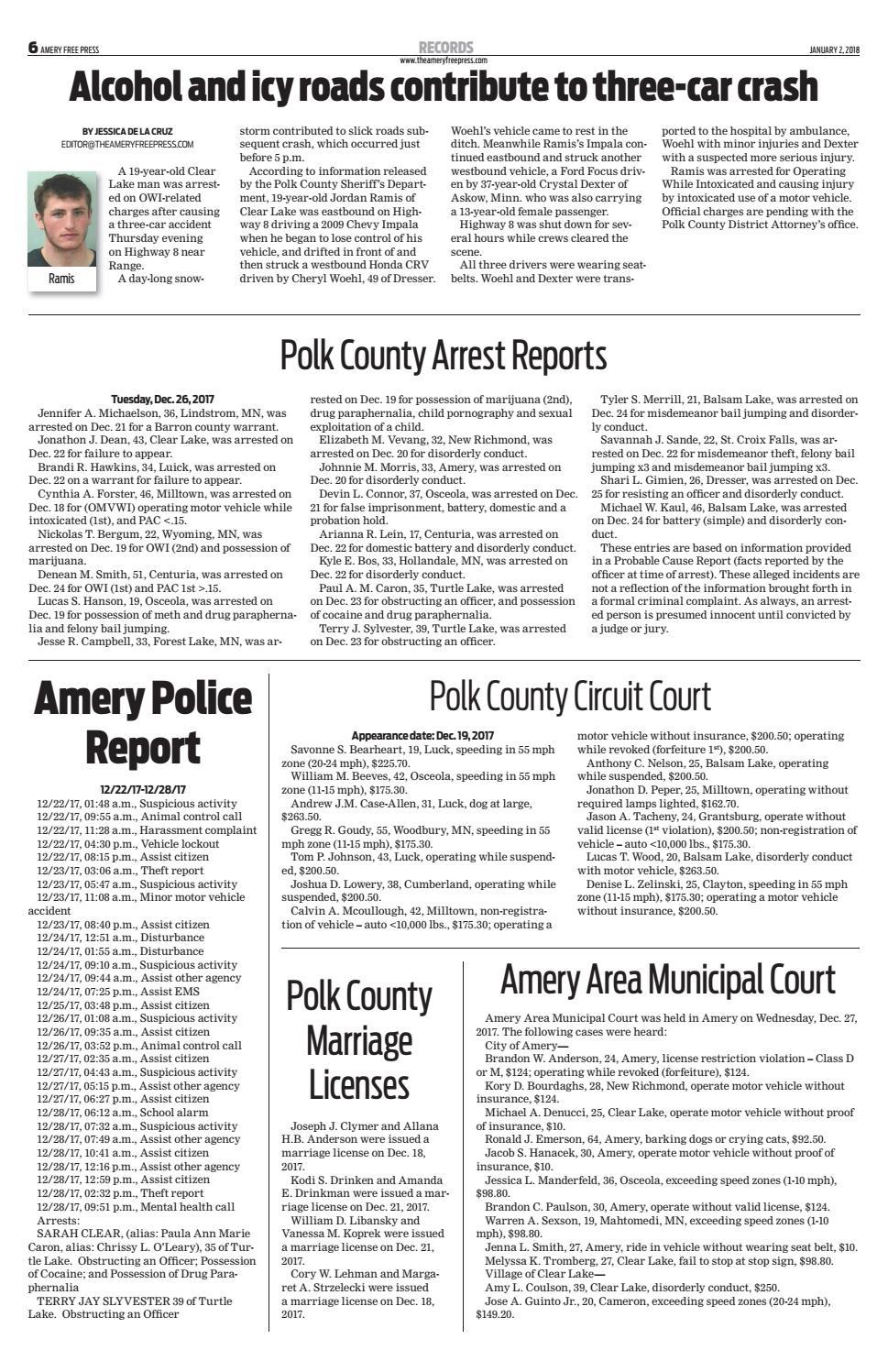 Afp 01 02 18 by Amery Free Press - issuu