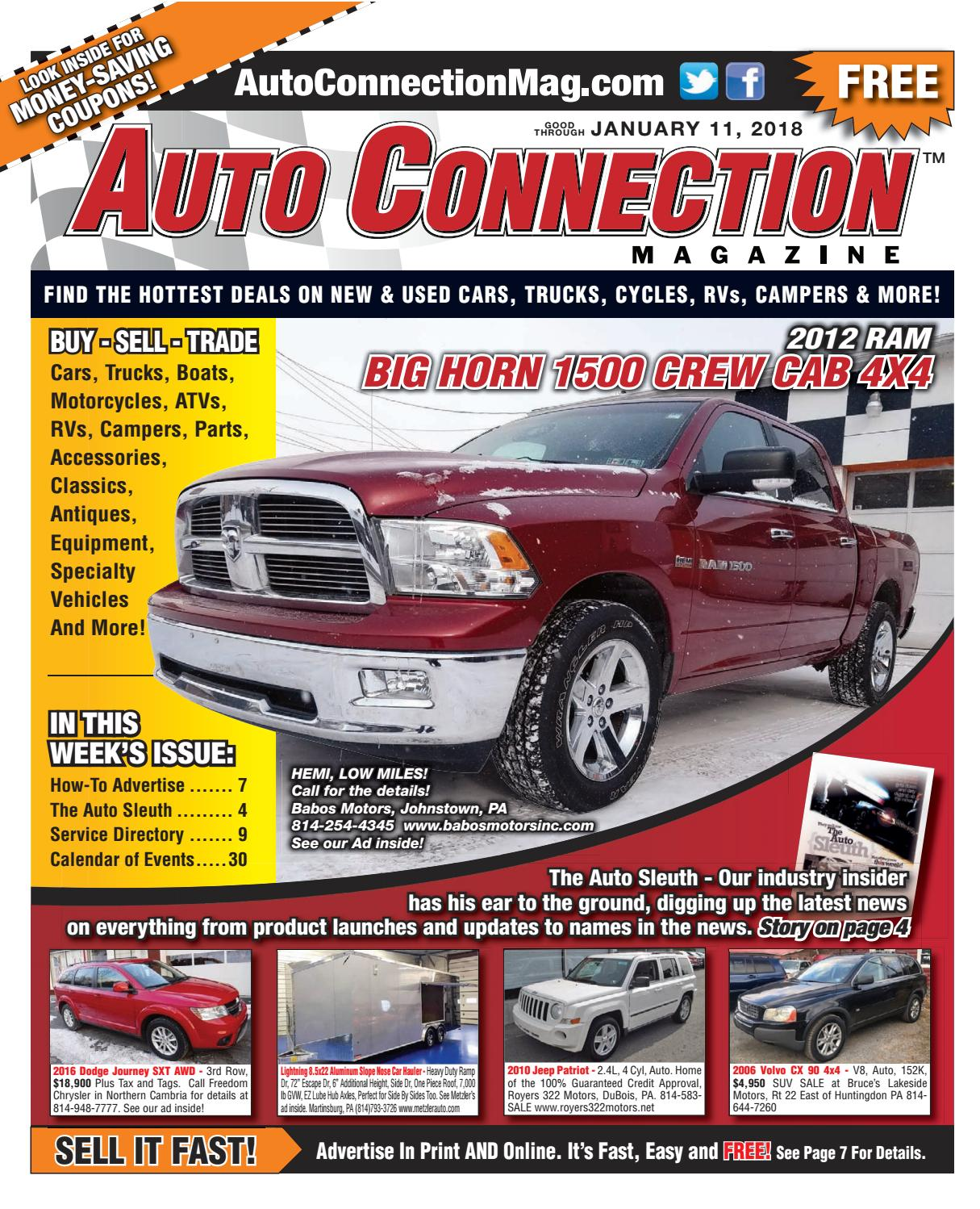 01 11 18 Auto Connection Magazine By Auto Connection Magazine Issuu
