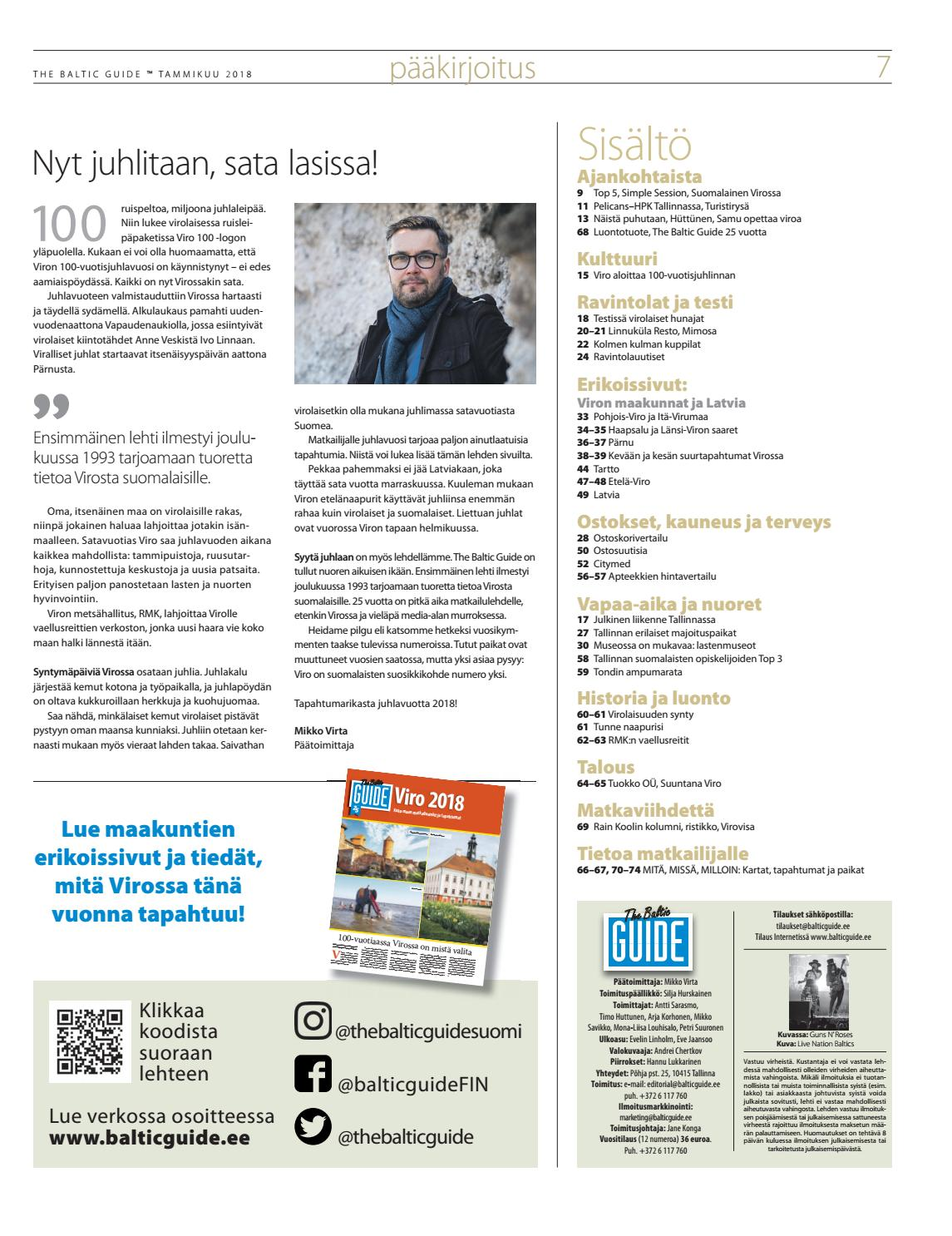 The Baltic Guide Fin Tammikuu 2018 By The Baltic Guide Issuu