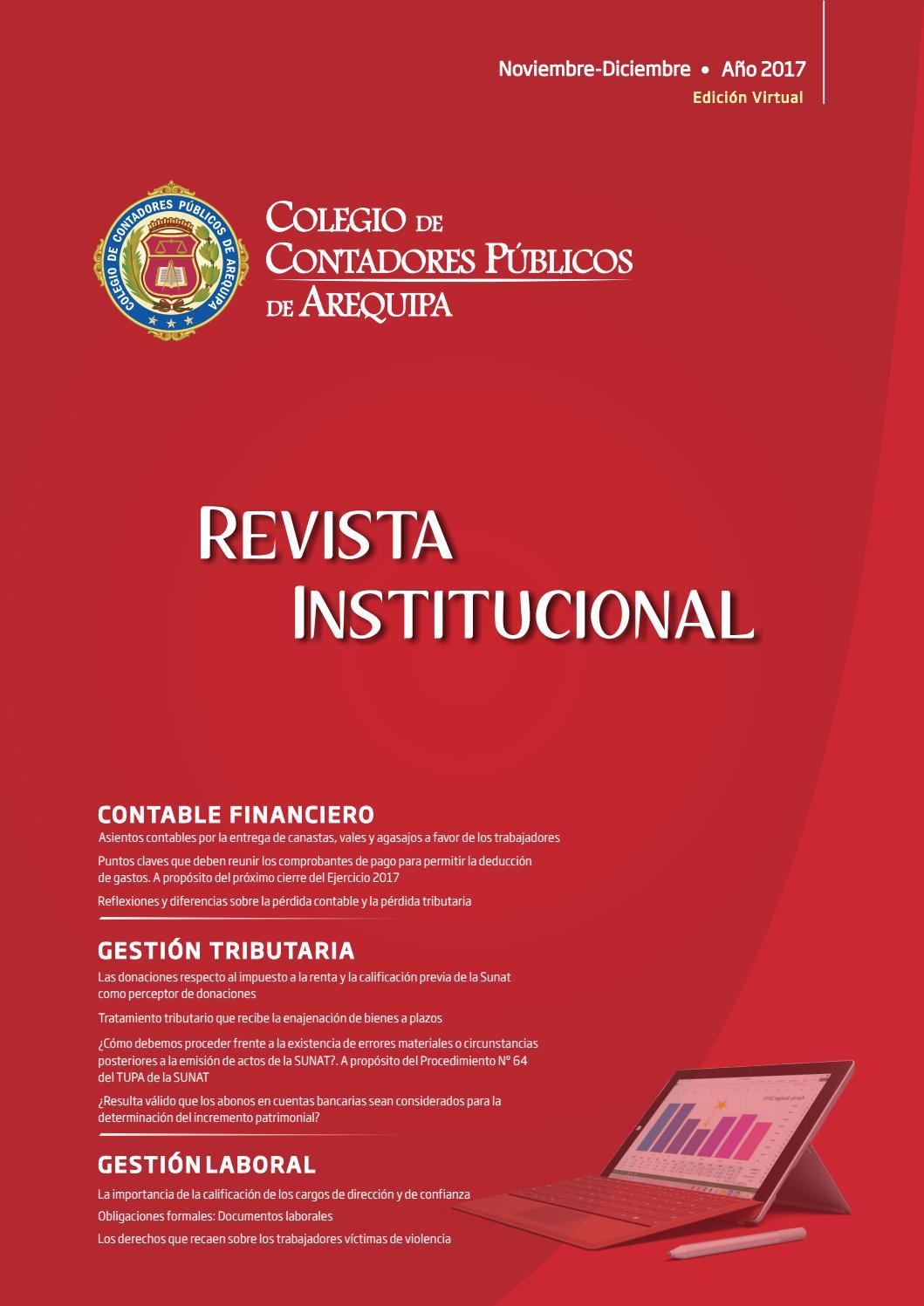 Revista Institucional - Noviembre-Diciembre 2017, edición virtual by ...