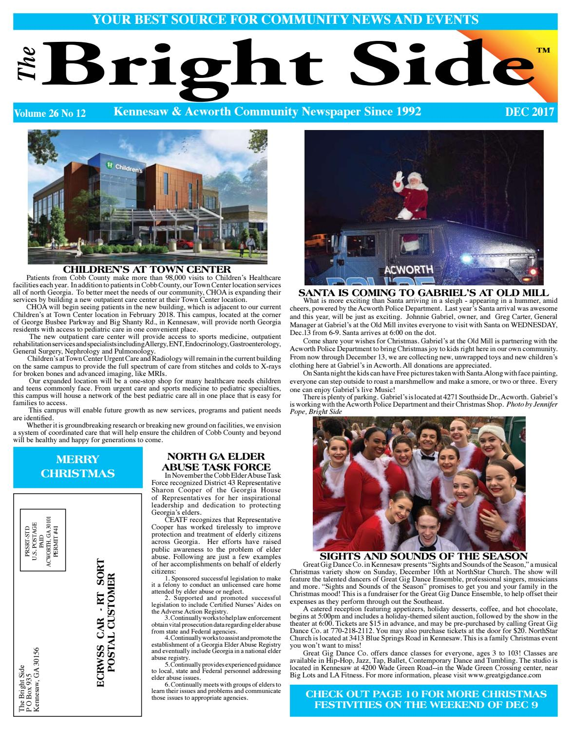 DECEMBER 2017 Kennesaw/Acworth Bright Side Community NEWSPAPER Web