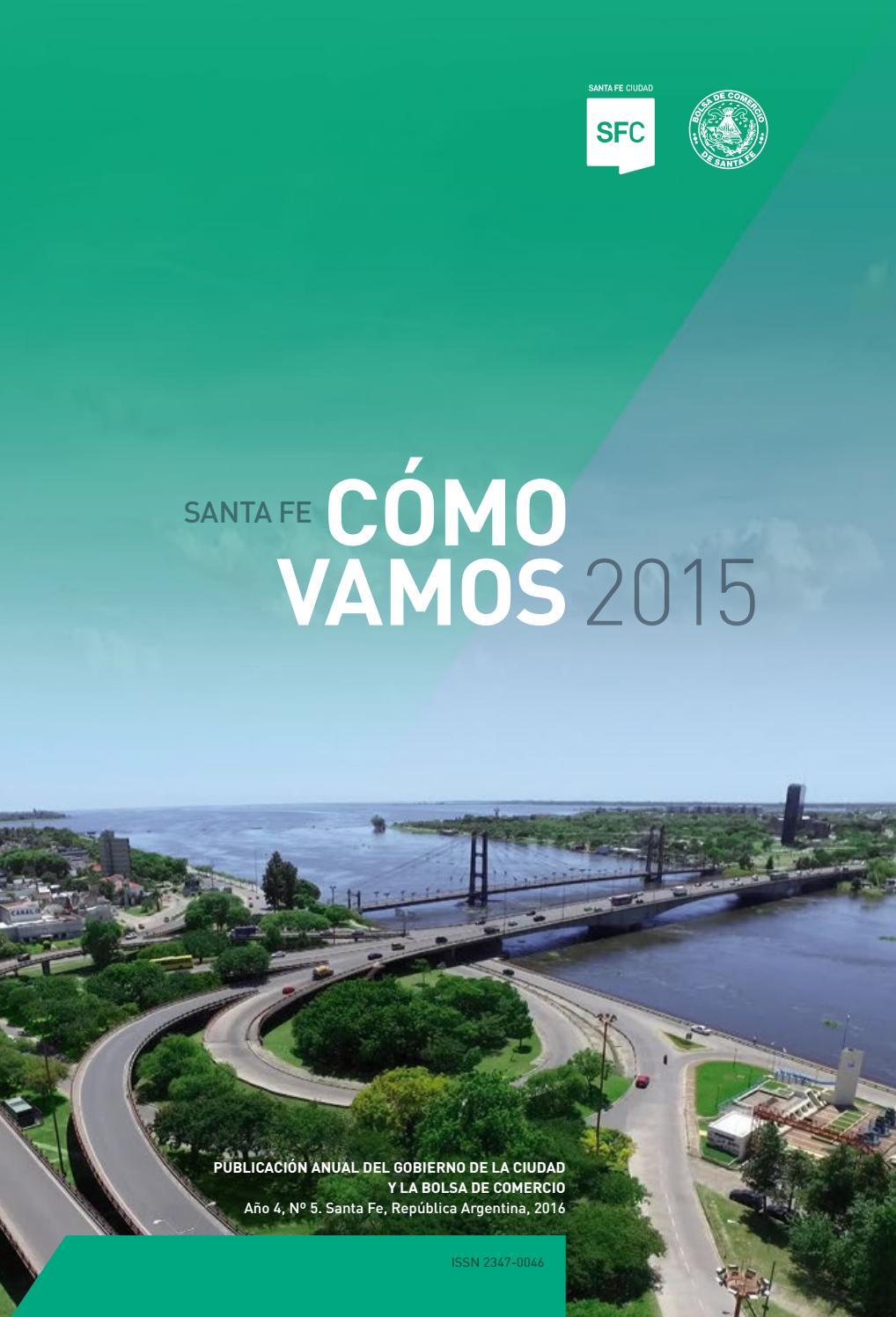 Santa Fe Cómo Vamos 2015 By Santa Fe Ciudad Issuu