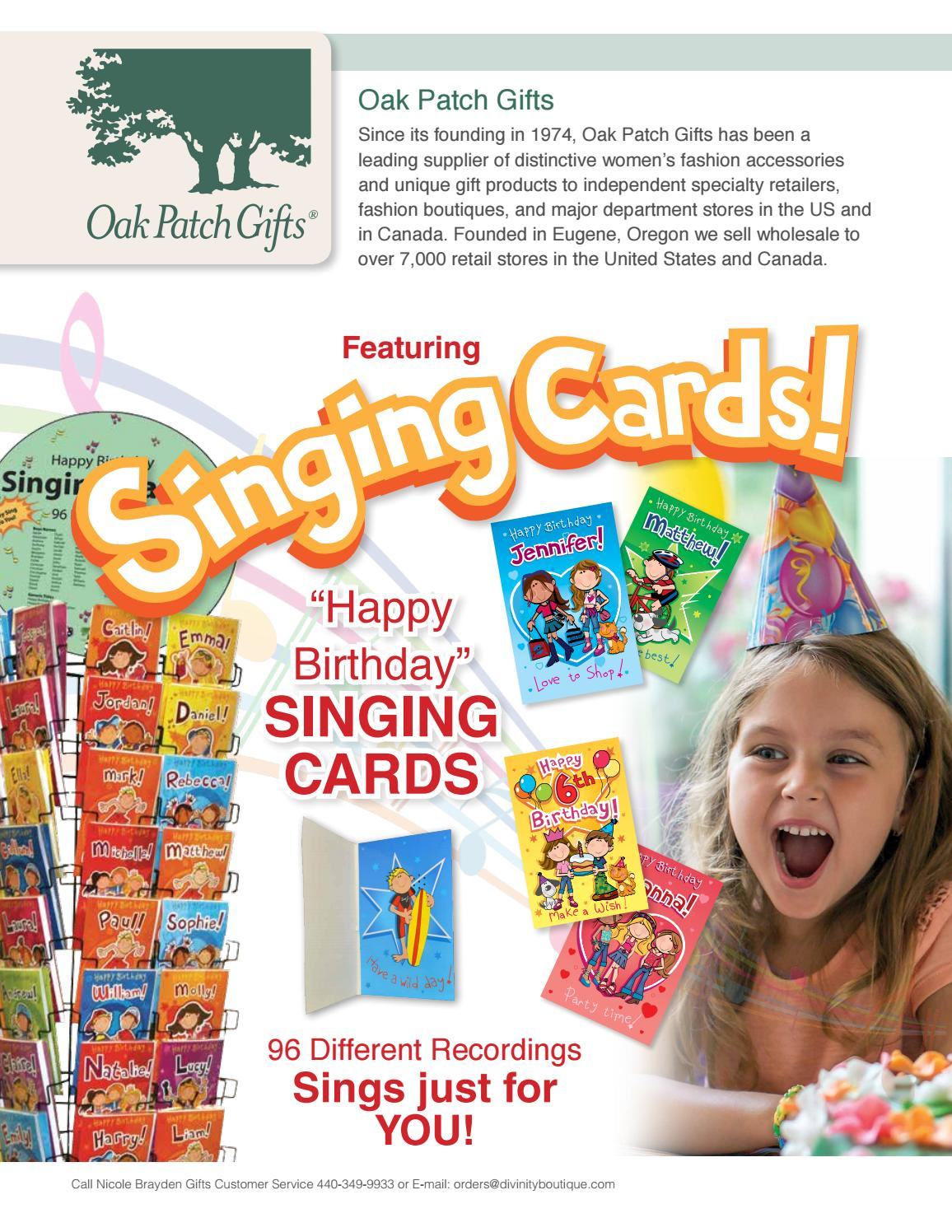 Singing Cards Sell Sheet By Divinity Boutique
