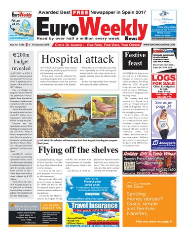 Euro weekly news costa de almeria 4 10 jan 2018 issue 1696 by issue no 1696 fandeluxe Choice Image