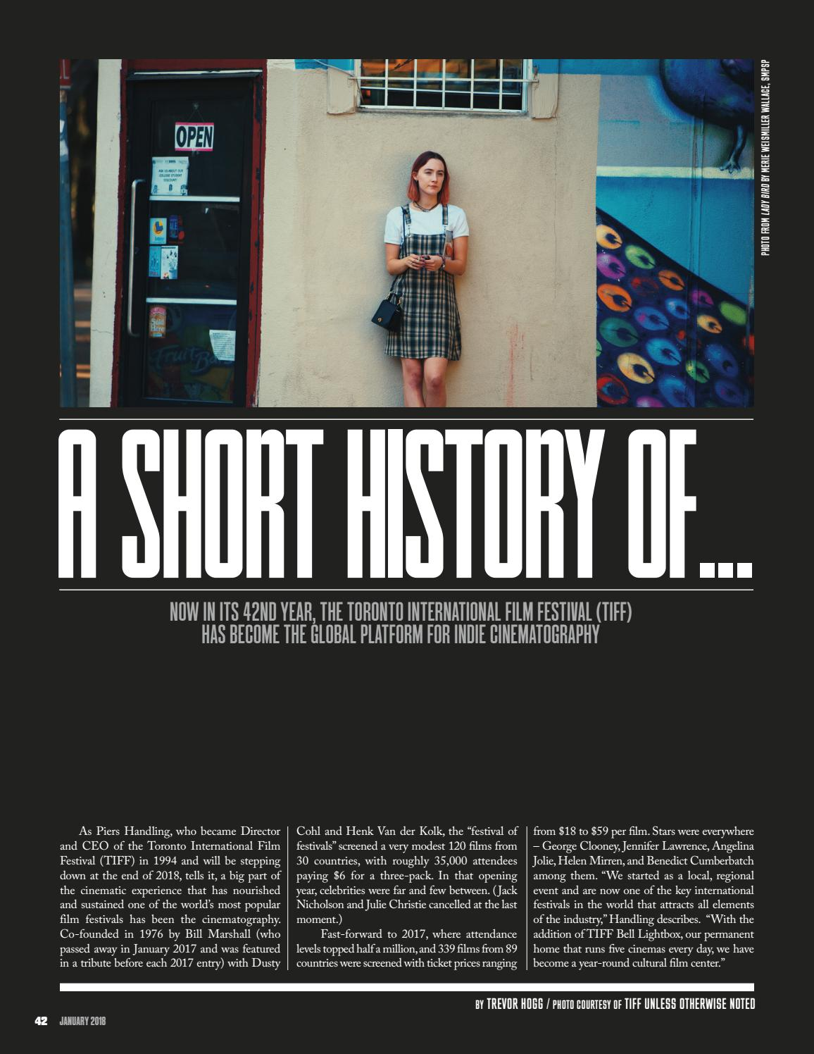ICG Magazine - January 2018 - Film Festival Issue by ICG