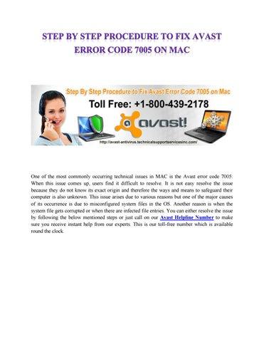avast error code
