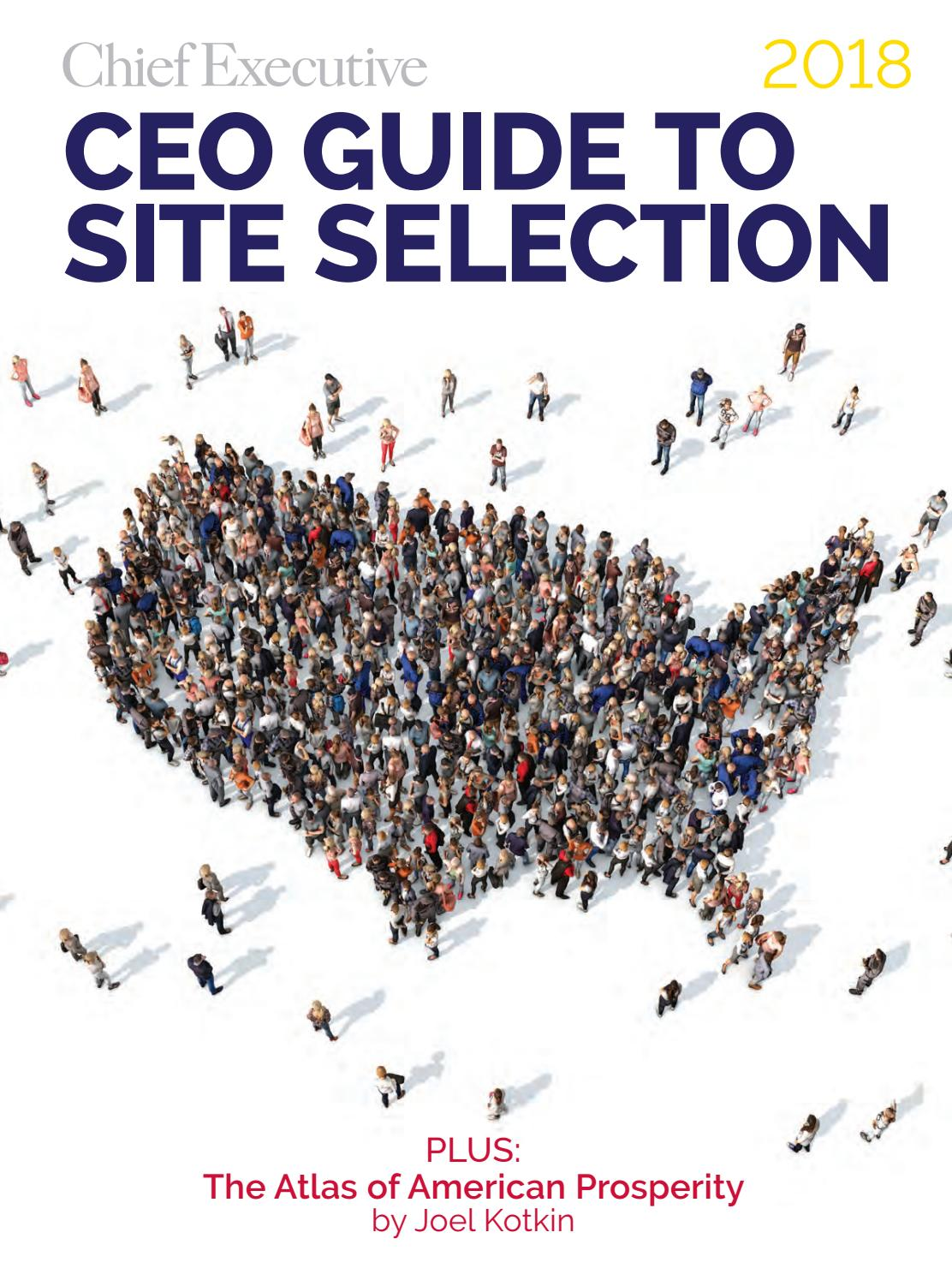 Jan/Feb 2018 CEO Site Selection Guide by Chief Executive