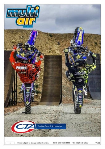 "Cover of ""Multiair Dual Stage Motocross Air Filters Australia 2017"""