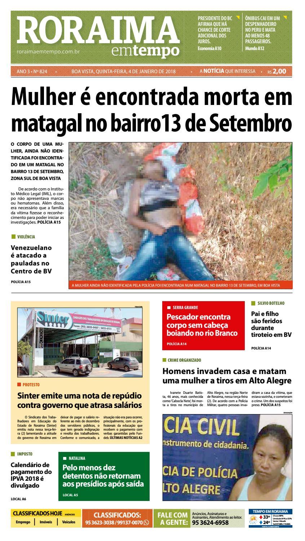 Jornal roraima em tempo – edição 824 by RoraimaEmTempo - issuu 77cdfc95dd