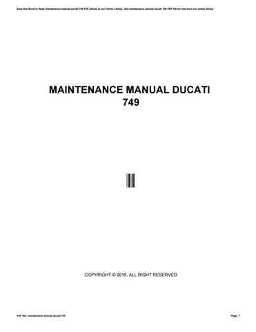 maintenance manual ducati 749 by crymail276 issuu rh issuu com Ducati Panigale Ducati Meccanica