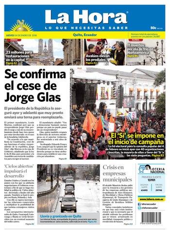 Quito 04 de enero de 2018 by Diario La Hora Ecuador - issuu ecd3e7ab29c